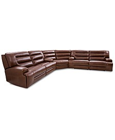 Adalton 3-Pc. Recliner Leather Sectional, Created for Macy's