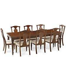 Orle Dining 9 pc Set  (Dining Table & 8 Side Chairs), Created for Macy's