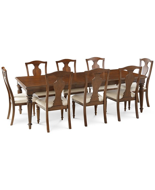 Furniture Orle Dining Furniture, 9 pc Set  (Dining Table & 8 Side Chairs), Created for Macy's