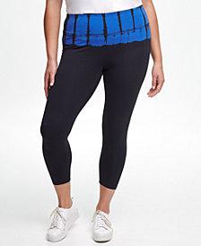 Calvin Klein Performance Plus Size Bel Air Tie-Dyed High-Rise Leggings