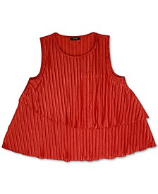 Solid Ribbed Overlay Top, Created for Macy's