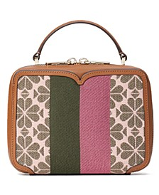 Spade Flower Jacquard Vanity Stripe Mini Top-Handle Bag