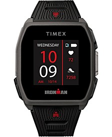 Men's Ironman R300 Black Silicone Strap GPS Smart Watch with Heart Rate 41mm