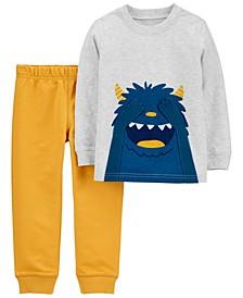 Toddler Boy 2-Piece Monster Jersey Tee & Jogger Pant Set