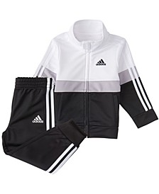 Baby Boys Zip Front Colorblock Varsity Track Jacket & Jogger Set