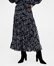 Flowy Printed Skirt