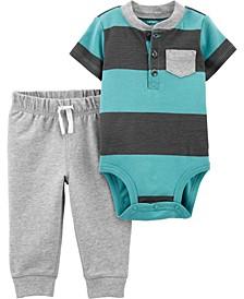 Baby Boy  2-Piece Striped Bodysuit Pant Set