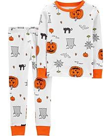 Baby Boy & Girl 2-Piece Halloween Snug Fit Cotton PJs