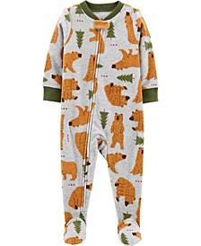 Baby Boy  1-Piece Bear Fleece Footie PJs