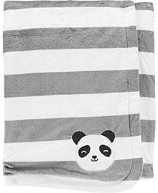 Big Boy Panda Plush Fuzzy Blanket