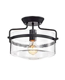 "Merwin 12.6"" 1-Light Indoor Semi-Flush Mount Chandelier with Light Kit"