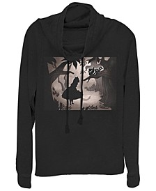 Women's Alice in Wonderland Alice Backlit Fleece Cowl Neck Sweatshirt