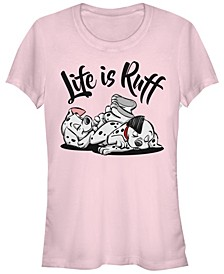 Women's 101 Dalmatians Life is Ruff Short Sleeve T-shirt