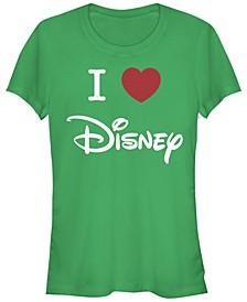 Women's Disney Logo I Heart Disney Short Sleeve T-shirt