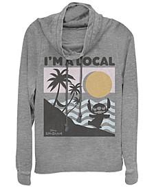 Women's Disney Lilo Stitch Beach Scene Fleece Cowl Neck Sweatshirt