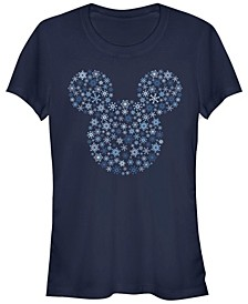 Women's Disney Mickey Classic Mickey Snowflakes Short Sleeve T-shirt