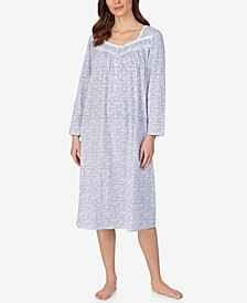 Cotton Floral-Print Nightgown
