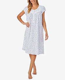 Short Sleeve Knit Cotton Waltz Nightgown