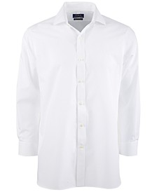 Men's Classic/Regular-Fit Wrinkle-Resistant Solid Pinpoint Oxford Dress Shirt