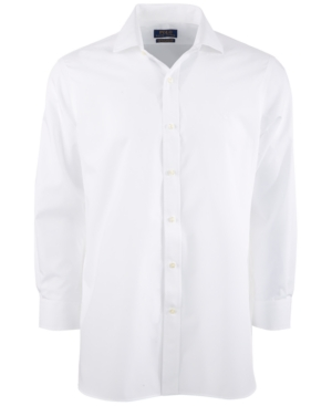 Polo Ralph Lauren Men's Classic/Regular-Fit Wrinkle-Resistant Solid Pinpoint Oxford Dress Shirt