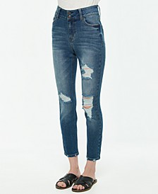 Juniors' Double-Button High-Rise Skinny Jeans