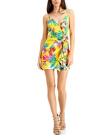 Chrissy Printed Ruched Dress