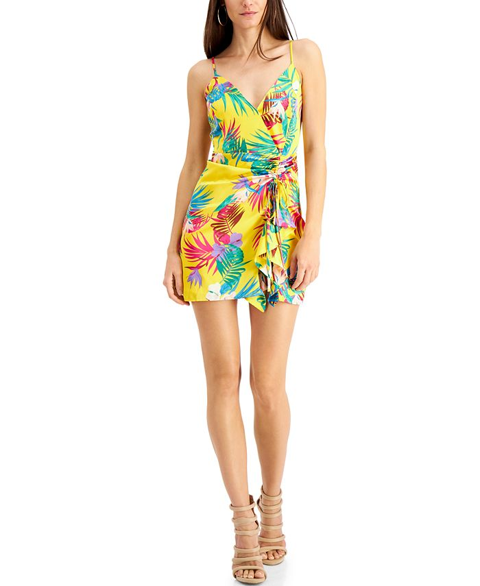 GUESS - Chrissy Printed Ruched Dress
