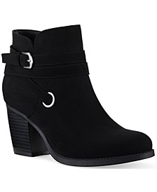 Zolaa Block-Heel Booties, Created for Macy's
