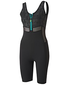 Women's Train First Mile Xtreme Half-Zip Cropped Jumpsuit
