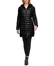 Reversible Fleece-Lined Hooded Puffer Coat