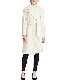 Petite Wool-Blend Wrap Coat