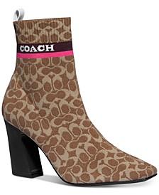 Women's Tasha Logo Sock Booties
