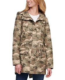 Trendy Plus Size Printed Cotton Parka Jacket