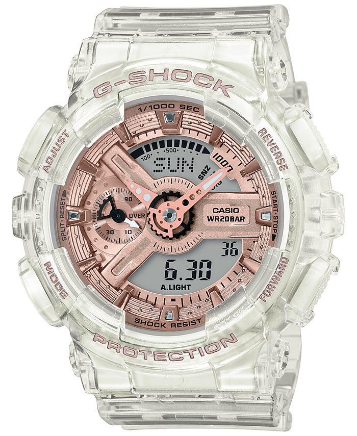G-Shock - Women's Analog-Digital Clear Resin Strap Watch 45.9mm
