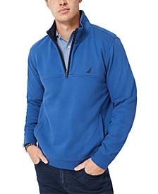 Men's Solid 1/4-Zip Fleece Pullover