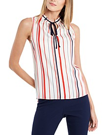Abbey Striped Sleeveless Blouse, Created for Macy's