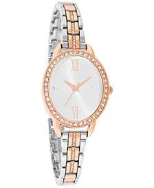 INC Women's Two-Tone Pavé Bracelet Watch 37mm, Created for Macy's