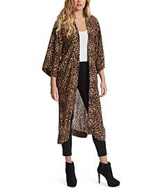 Waverly Printed Open-Front Kimono