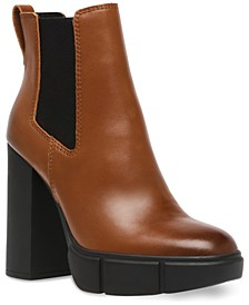 Women's Revised Block-Heel Lug-Sole Booties
