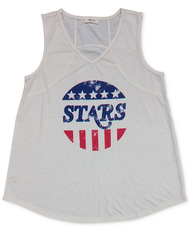 Style & Co Graphic Print Tank Top, Created for Macy's
