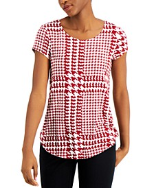 Printed Scoop-Neck Knit Top, Created for Macy's