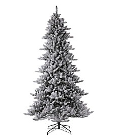 Pre-Lit Snow Flocked Fir Artificial Christmas Tree with 650 Warm Lights