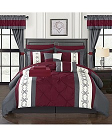Icaria 20 Piece King Bed In a Bag Comforter Set