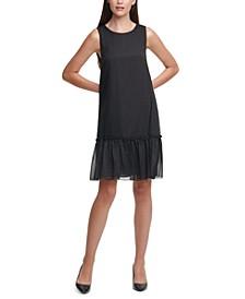 Metallic-Dot Chiffon Dress