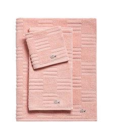 Lacoste Sculpted Squares Bath Towel Collection