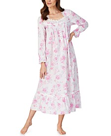 Cotton Rose-Print Ballet Nightgown