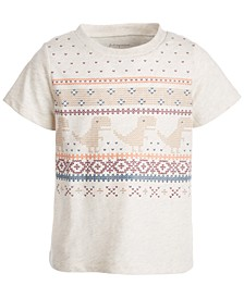 Toddler Boys Short Sleeve Dino Sweater Tee, Created for Macy's