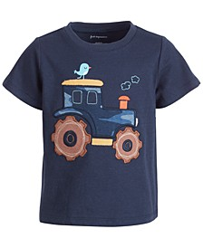 Baby Boys Short Sleeve Tractor Tee, Created for Macy's