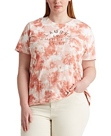 Plus Size Tie-Dye Short Sleeve Top
