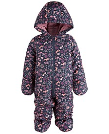 Baby Girls Floral Fox Snowsuit, Created for Macy's